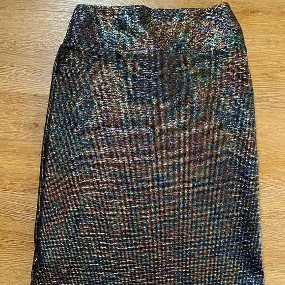 LuLaRoe oil slick skirt